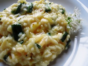 Wild garlic risotto