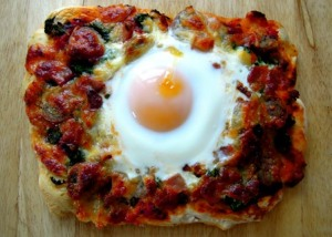 The full English pizza