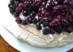 Blackberry and cardamom pavlova