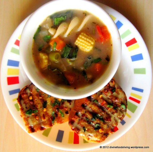 Minestrone soup from Divine Foods Living