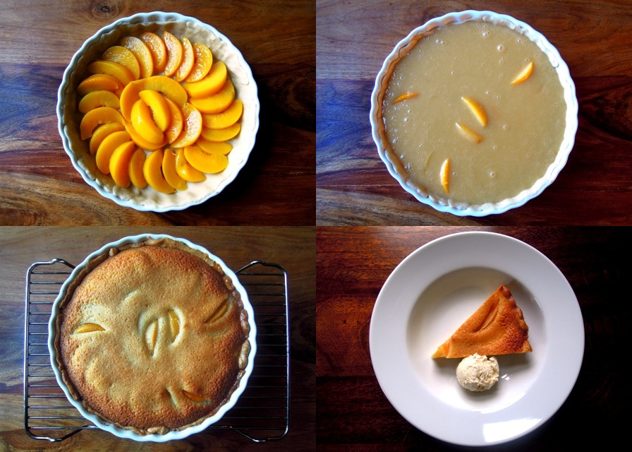 The four stages of peach pie