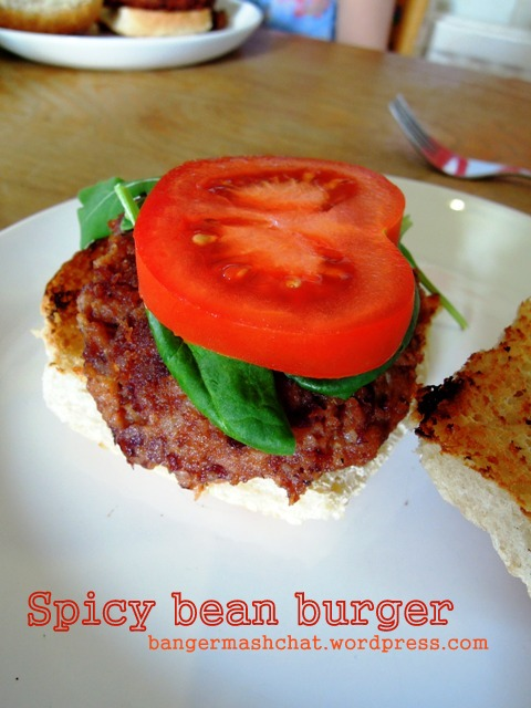 spicy bean burger