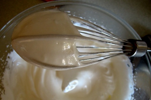 Whisking egg whites for lemon meringue pie