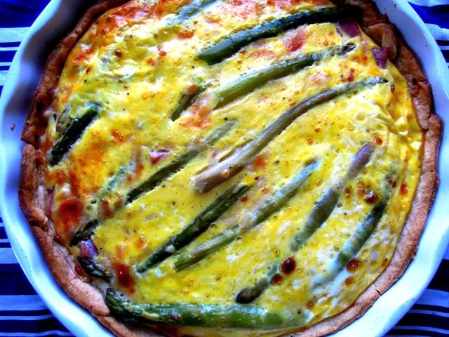 Asparagus ham and Parmesan tart