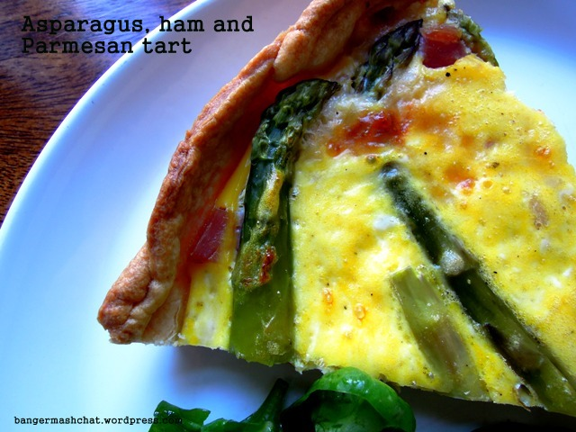 asparagus and ham tart