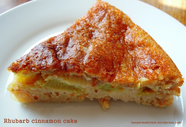 rhubarb cinnamon cake