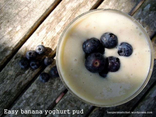 easy banana yoghurt pud