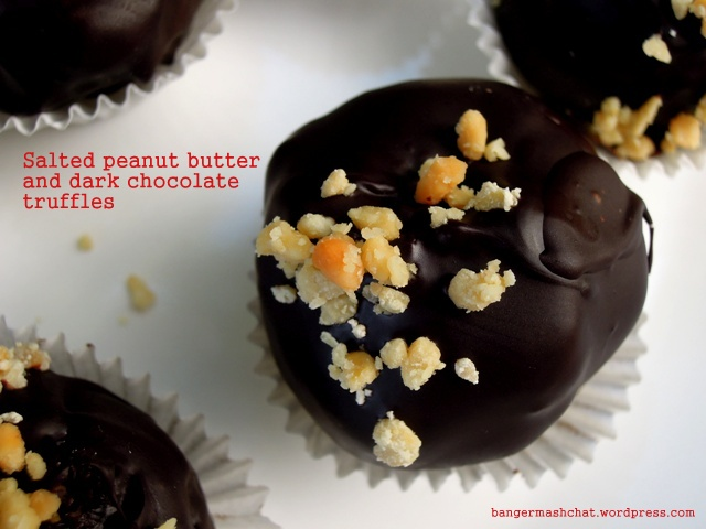 salted peanut butter truffle