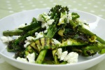 Well Worn Whisk: Chargrilled courgette and purple sprouting broccoli with feta