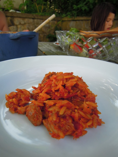 Youvetsi (slow cooked lamb with orzo pasta)