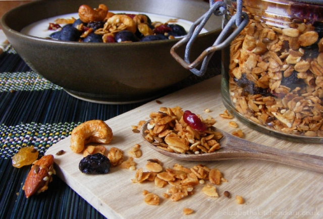 Fruit and Nut Granola from Elizabeth's Kitchen Diary