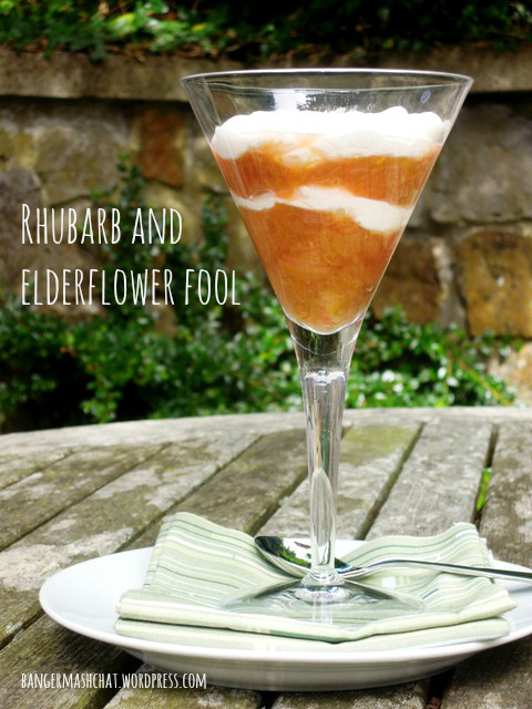 rhubarb and elderflower fool