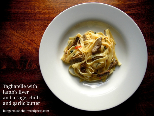 Tagliatelle with liver text web