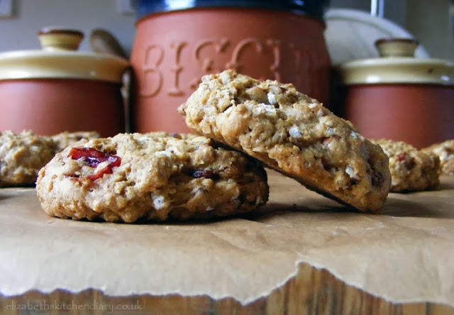 chewy oatmeal cran raisin pecan cookies