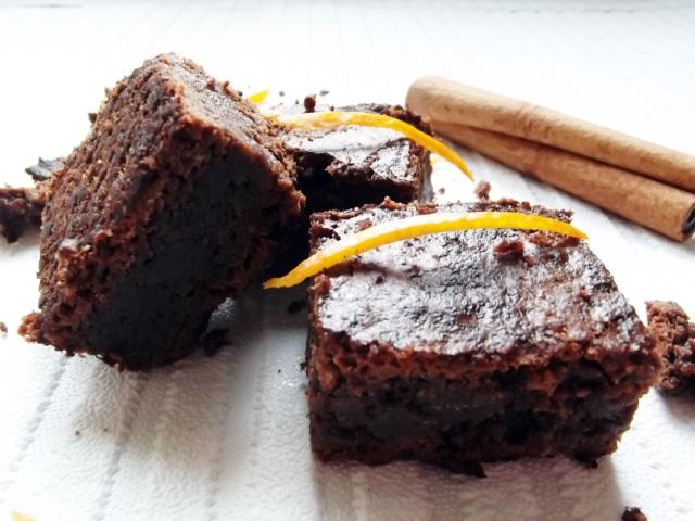 choc orange brownie