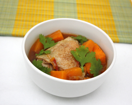 cinnamon butternut squash and chicken stew