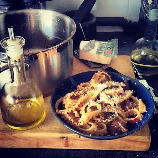sicillian style spicy beef pasta