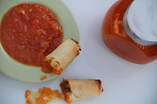 sweet chilli and lychee dipping sauce
