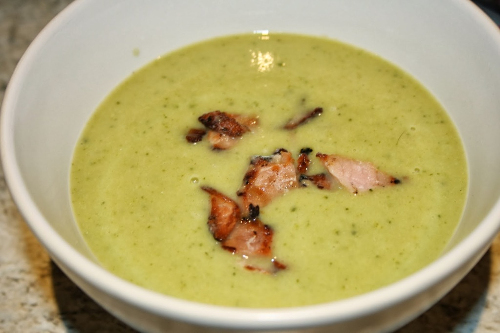 broccoli courgette and stilton soup