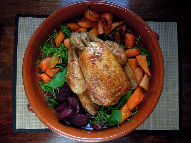 lemon roast chicken beetroot carrot sweet potato