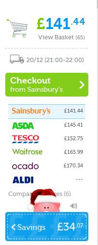 screenshot final cost comparison and savings
