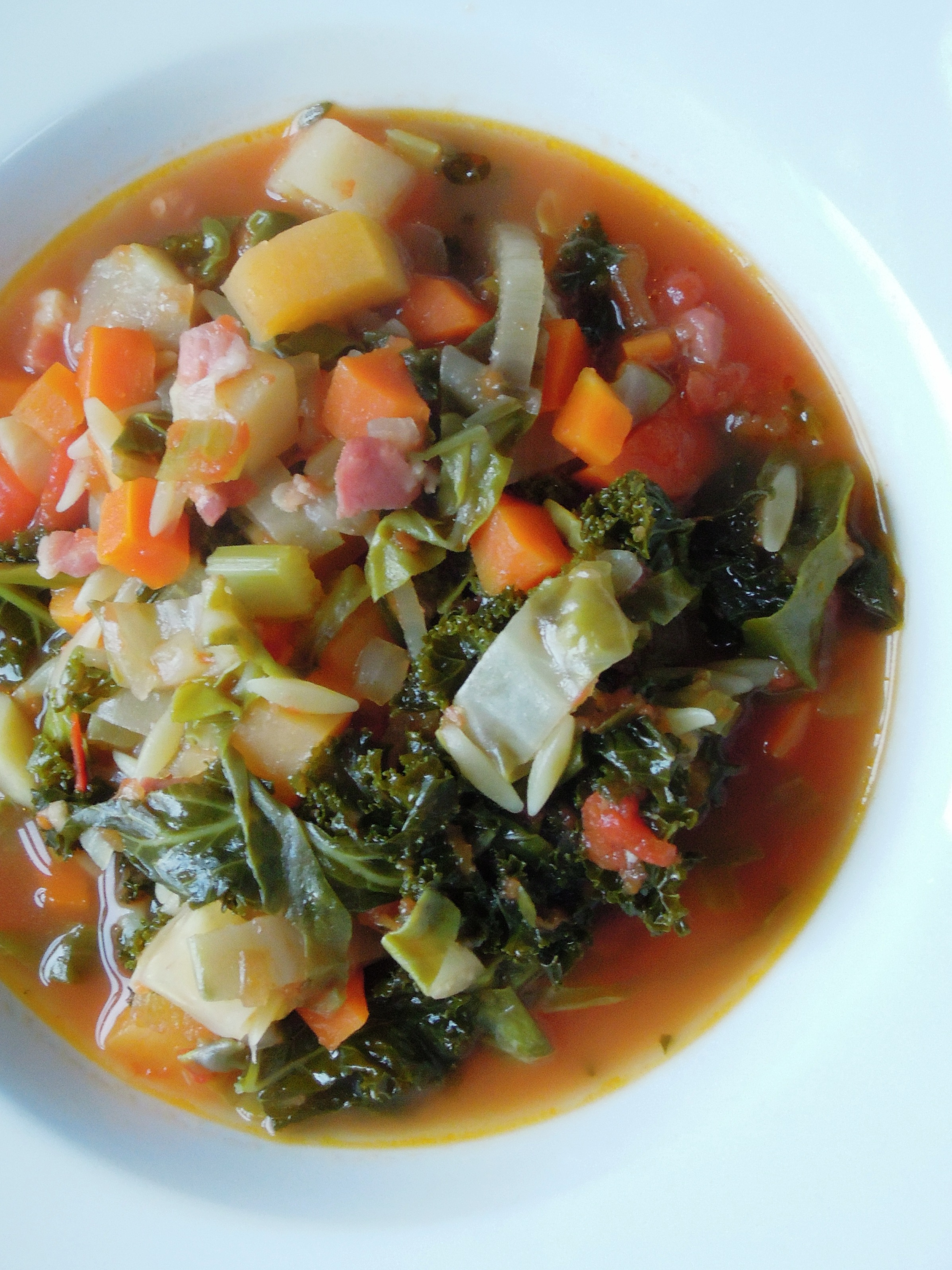 Winter Minestrone With Swiss Chard And Sausage Recipe ...