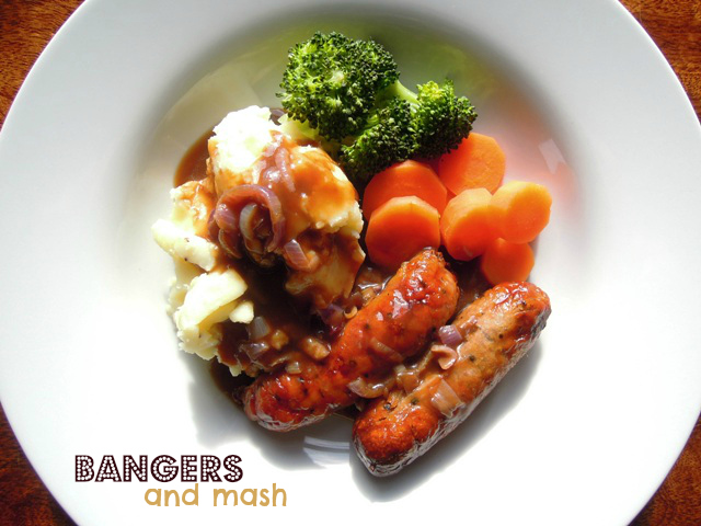 How I make bangers and mash