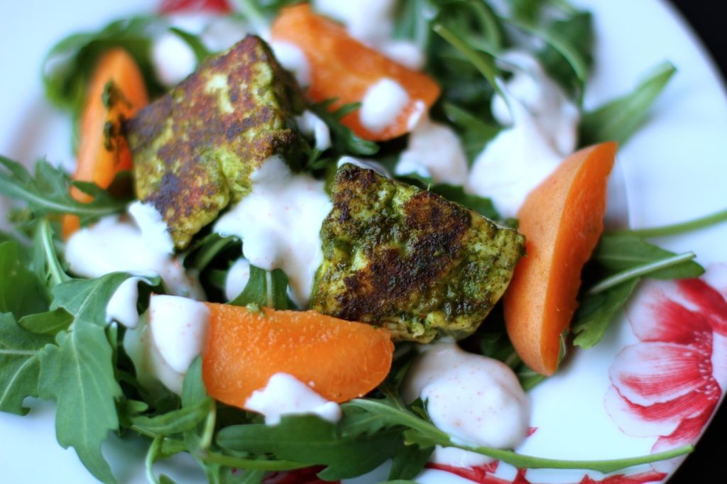 chermoula marinated halloumi