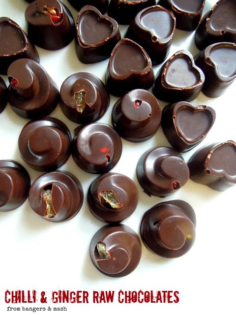 Chocolate hole mashing