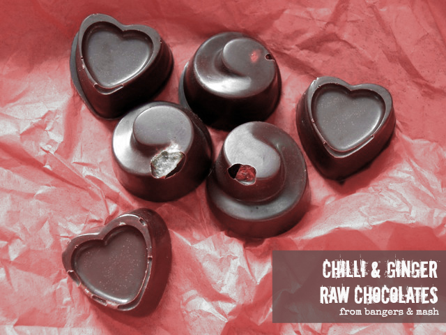 chilli ginger choclates