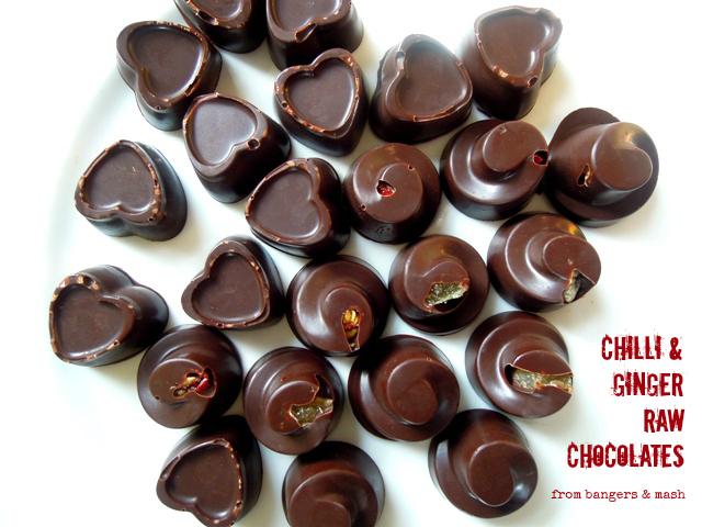 chilli ginger chocolates