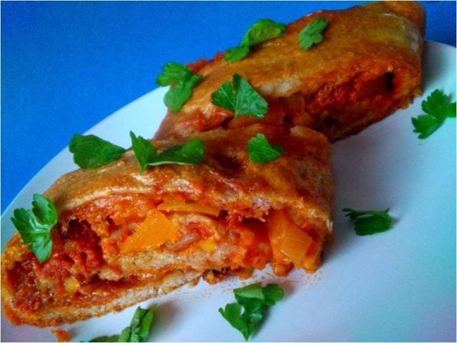 chorizo and vegetable stromboli