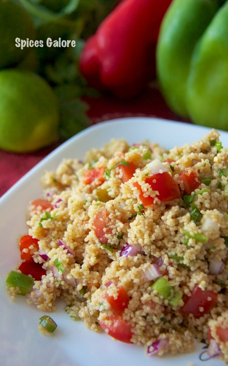couscous salad with chermoula dressing