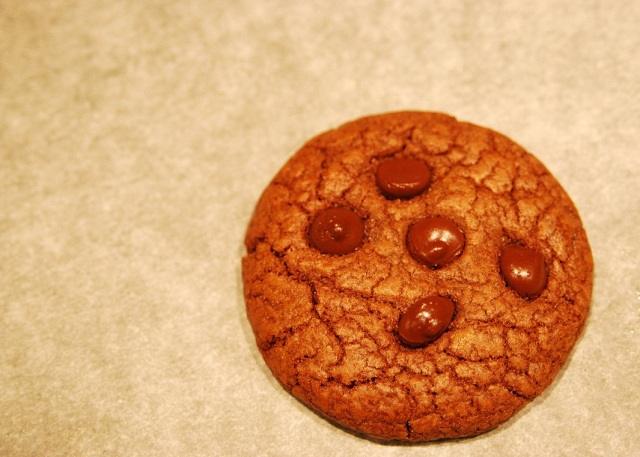 dark chocolate and paprika cookie