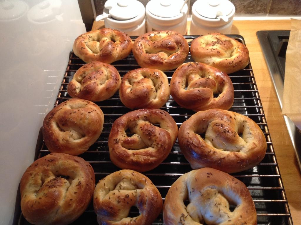 caraway pretzels
