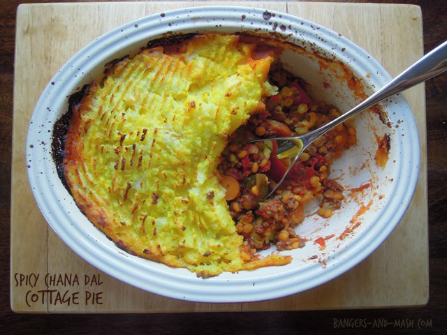 chana dal cottage pie