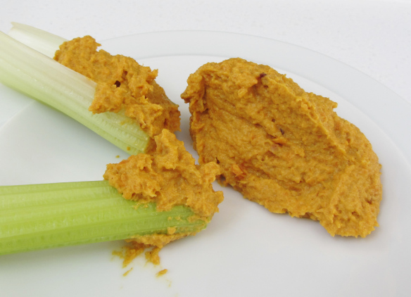 roast-carrot-dip-on-celery