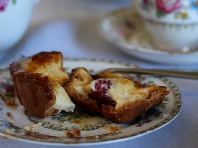 creme brulee raspberry tart