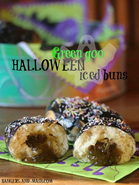 Green Goo Halloween Iced Buns3smalltext