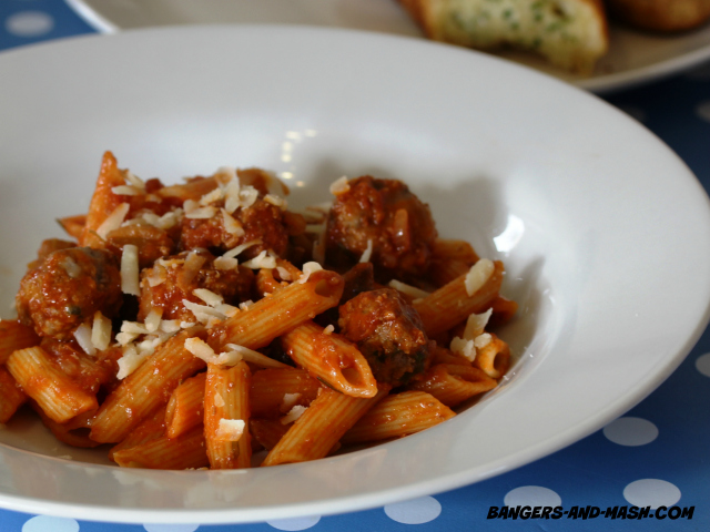 PENNE WITH MEATBALLS 2