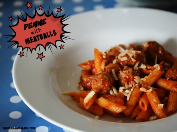 5. Penne with Meatballs