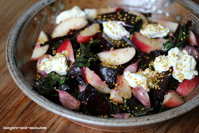 roast beetroot with labneh nectarine and cumin3 text
