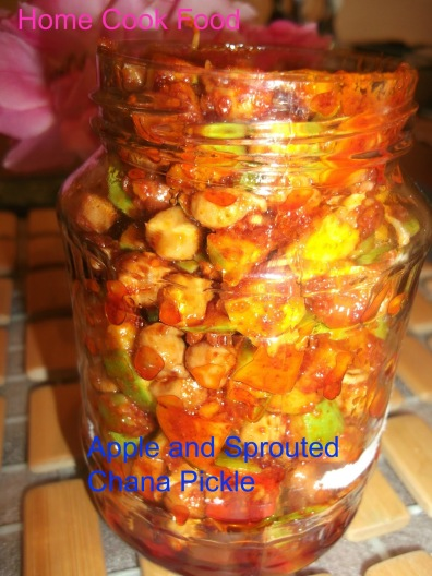 5. Apple & Sprouted Chickpeas Pickle