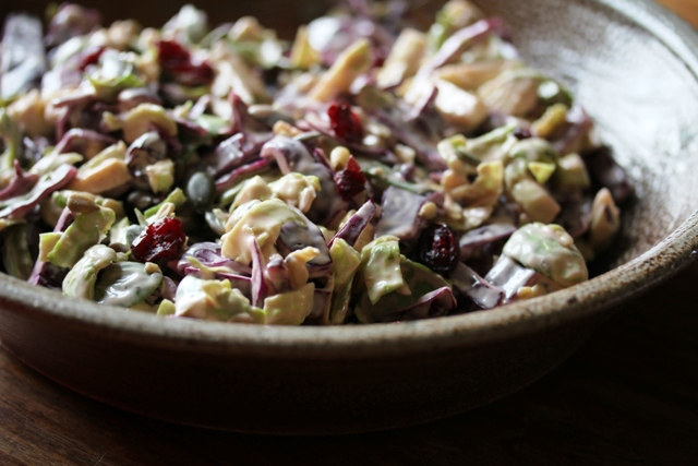 brussels sprout and red cabbage slaw2 web