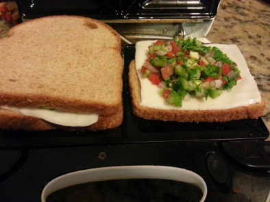 2. Chilli Cheese Sandwich with Chinese Tomato Soup