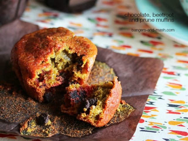 chocolate beetroot and prune muffin2 text
