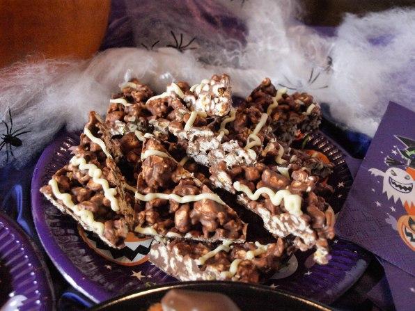 10. Chocolate Popcorn Triangles