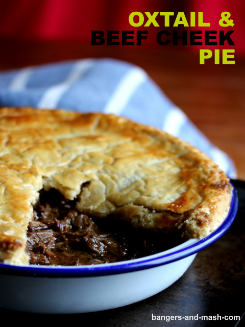 oxtail and beef cheek pie text
