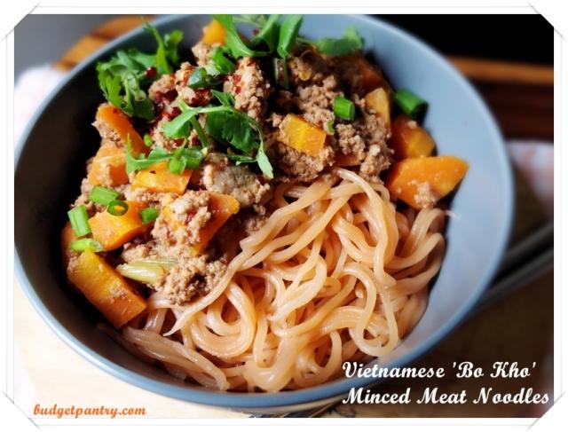 Vietnamese Bo Kho Noodles
