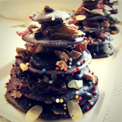 17. Easy Chocolate Christmas Trees